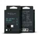 Дата-кабель USB -Type-C, 3А, 1м, в нейлоновой оплетке черный, BoraSCO (VSP)