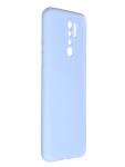 Чехол Pero для Xiaomi Redmi 9 Liquid Silicone Light Blue PCLS-0021-LB